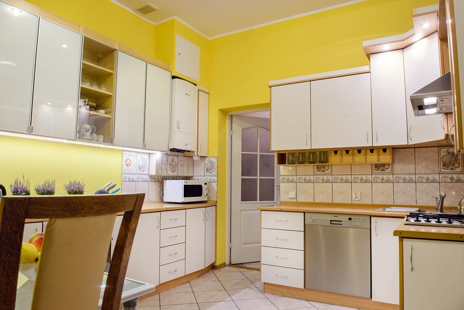 Panorama kuchni w mieszkaniu