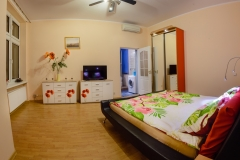 Sypialnia w apartamencie w szczecinie